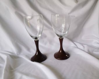 WOOD WINE GLASSES - Turned Katalox