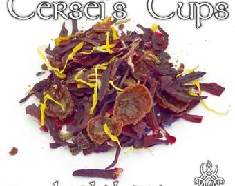Game of Thrones Tea, Cersei's Cups, Cersei Lannister, loose leaf herbal tea, spiced hibiscus tea, Game of Thrones gift, fandom tea, Red Keep