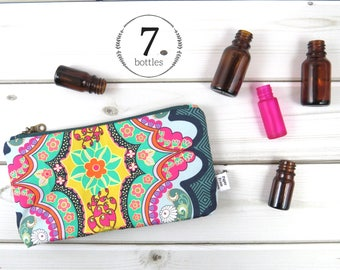 Essential Oil Case, Essential Oil Bag - Brit Boutique - cosmetic bag zipper pouch oil storage, oils