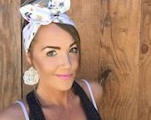 Boho Arrow Dolly Bow || Festival Headband w/ Wire Pink Mint Blue Navy Gold Black White Ivory Orange Pinup Rockabilly Fashion Hair Girl