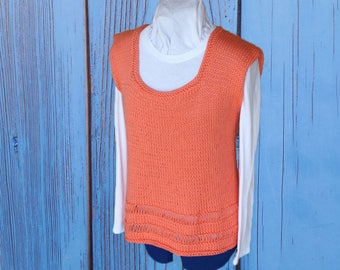 Knitting Pattern for Sweater, Knit Sweater Pattern, Sleeveless Knit Tunic Pattern, Knit Tank Top Pattern, Knitted Vest