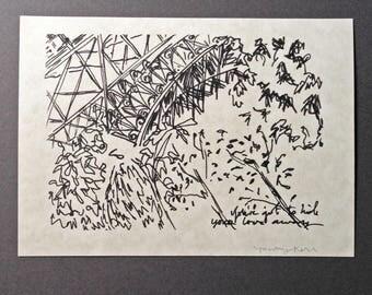 sketchbook print - Eiffel Tower/Champ de Mars 5x7 digital print