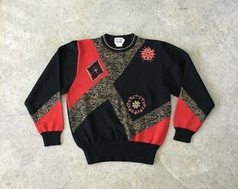 mr leonard metallic beaded sweater - 1211502