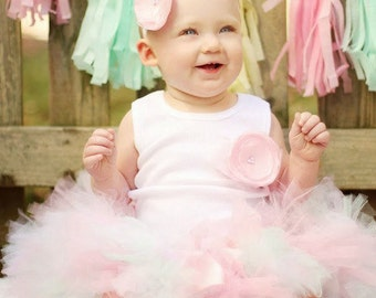 Whimsical Birthday Dress | Pink Baby Tutu | Cake Smash Dress Outfit
