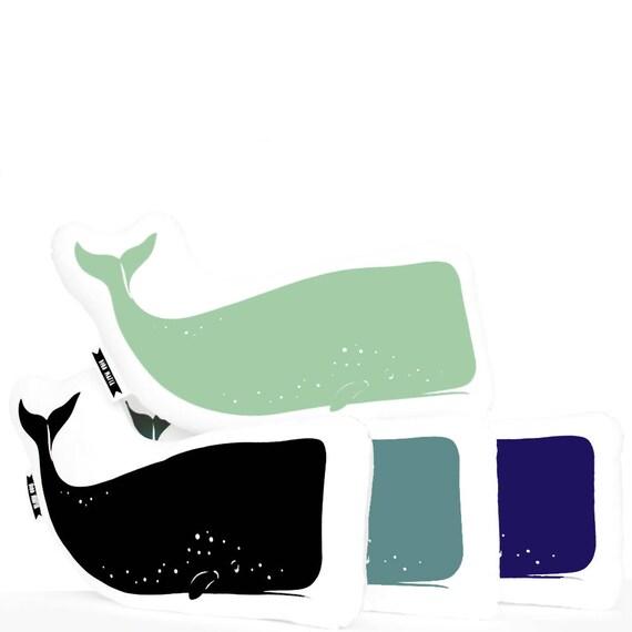 whale pillow animal pillow plush animals whale plush plush Beach Decor White Ocean Beach Decor