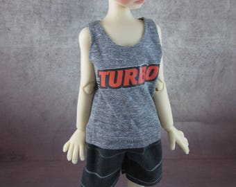 Turbo tank top and board shorts for Maurice by Kaye Wiggs MSD BJD Boys