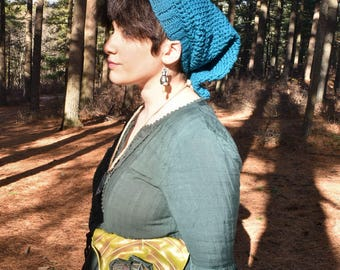 Teal Pixie Cap - READY TO SHIP