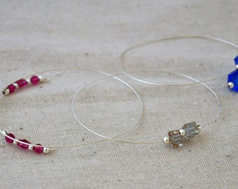 Swarovski crystal memory wire bracelets