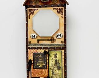 Steampunk Style House Facade Wallpiece Mirror