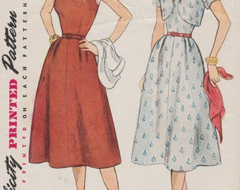 Simplicity 4306 / Vintage 50s Sewing Pattern / Dress And Bolero jacket / Size 16 Bust 34