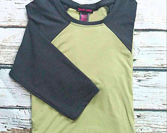 Green and Gray Baseball Sleeve Tunic