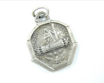 Vintage Dutch Procession of Holy Blood Catholic Medal -  Religious Charm - Jesus Christ Medallion - Jesus Pendant 040