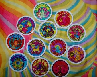 Set Of Four Zodiac Stickers... Mix and Match