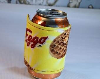 Eggo Can/Bottle Cozy/Home Decor/ Housewarming Gift/ Kitchen Decor/ Hostess Gift/ Wedding Gift/ Gift for her/ Fun gift/ Boyfriend gift