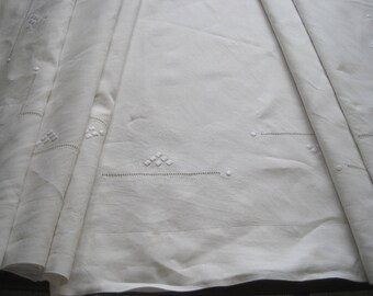 XL French pure linen sheet, unused, wonderful!  Fabulous bedding, curtain, blind, tablecloth, decor