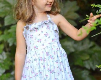 Elise Halter Dress PDF Sewing Pattern, including sizes 3 months-12 years, Girls Halter Dress Pattern