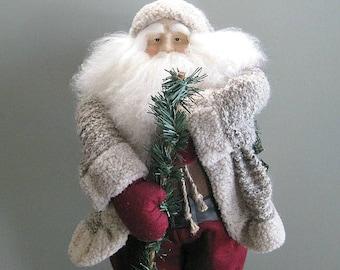 """Santa Claus Doll 24"""" Santa Decoration Santa Decor Father Christmas Doll Collectible Santa Doll Large Santa Art Doll Country Christmasinjuly"""