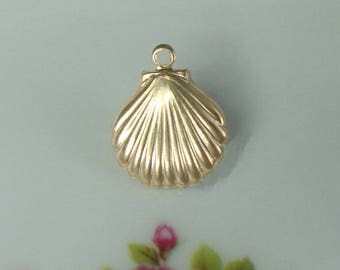 1 pc, 9mm, 14K Gold Filled Shell Charm, 3D Charm, PC-0248