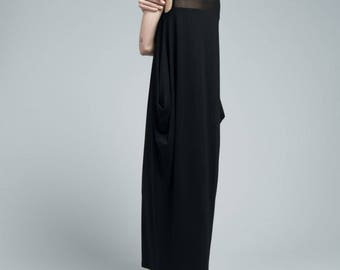 Maxi Dress / Day Dress / Long Oversize Dress / Sleeveless Dress / Summer Dress / Casual Dress / Marcellamoda - MD0663