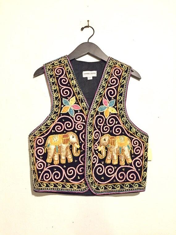 Embroidered/ Sequin 3D Elephant Vest