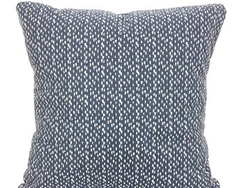 Pillow Covers Navy Blue White Decorative Pillows Cushions Faded Denim Navy Blue Riverbed Throw Pillows Couch Bed Nautical Various Sizes