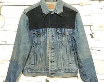 Vintage 80's Levi's Painted Denim Jacket - Medium