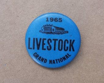 1965 Livestock Grand National Pin