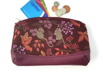 Harvest mouse clutch purse bag