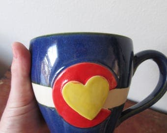 No. 2 Colorado in my Heart - Cozy Coffee Mug - Show your CO state pride, ready to ship