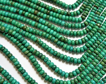 Howlite turquoise - 6mmx4mm Rondelle beads - 16 inch 40 cm strand - 104 pcs - AA quality - RFG1553