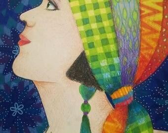 La fille du foulard