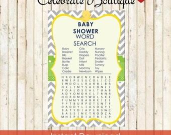 Duck Baby Shower Instant Download Baby Word Search Baby Shower Baby Duck Theme Baby Shower Word Search Game Baby Shower Duck Theme 0014