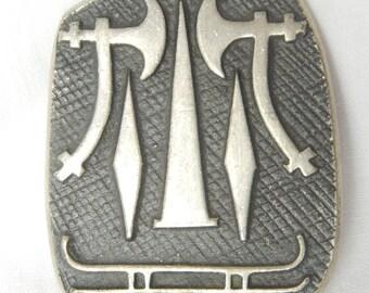 Swedish hatchet pin marked E.F.