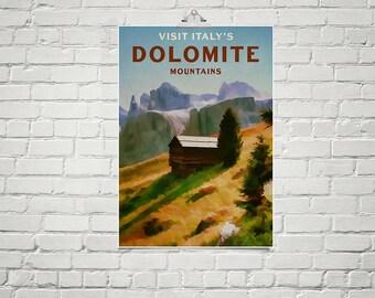 Italy Mountains 18x24 Poster Fine Art Print Landscape Art Mountain Decor Nature Prints European Travel Poster