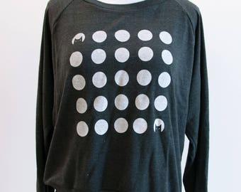 Womens Sweatshirt -- Polkadots and Cats