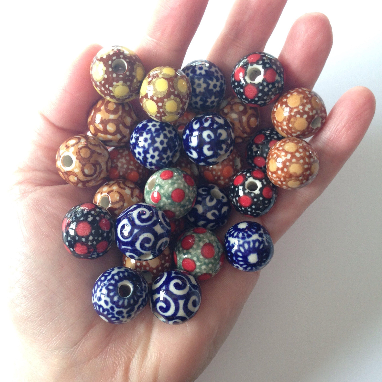 Ceramic Bead Beads: Clearance Sale: Handmade Ceramic Beads
