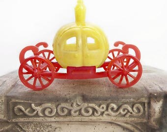 Plastic Cinderella Pumpkin Carriage, Red and Yellow Coach