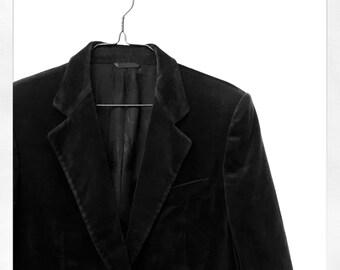 Vintage Gianni Versace Black Velvet Blazer 1990