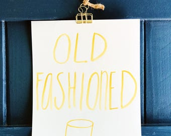 Old Fashioned - Hand Painted Art Print