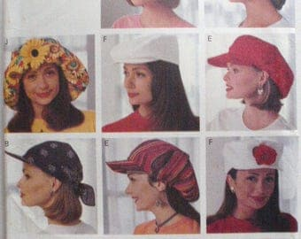 Butterick 3342 - Sewing Pattern for 10 Different Hats - Sizes S-M-L, Uncut