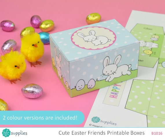 Cute Easter Printable Gift Boxes 2 templates print and make