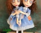 The Twins Horror Redrum Conjoined twins two headed OOAK Art Dolls LuLusApple