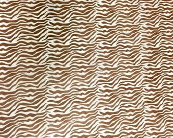 Brown Zebra Print Tissue Paper 20CT