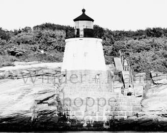 Castle Hill Lighthouse, Newport, RI ... New England ... Digital Download ... Instant Art