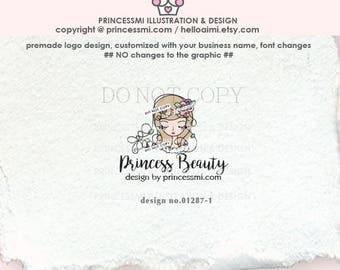 01287-1 girl logo, lady logo, girl business, girl boutique logo design, business logo design, blogger logo, shop logo, children business