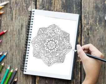 Printable coloring page, Mandala no. 11