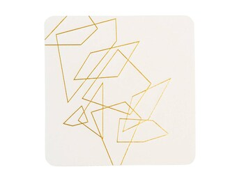 Geometric Lines Coasters, 4 Ply, Cotton Blotting Paper, 4 inch, 10 CT.