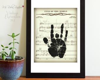 Grateful Dead, Eyes of the World, on Original Lyric Song Music Sheet, Print