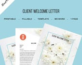 Client Welcome Letter for Event and Wedding Planners. Printable Template., MS Word