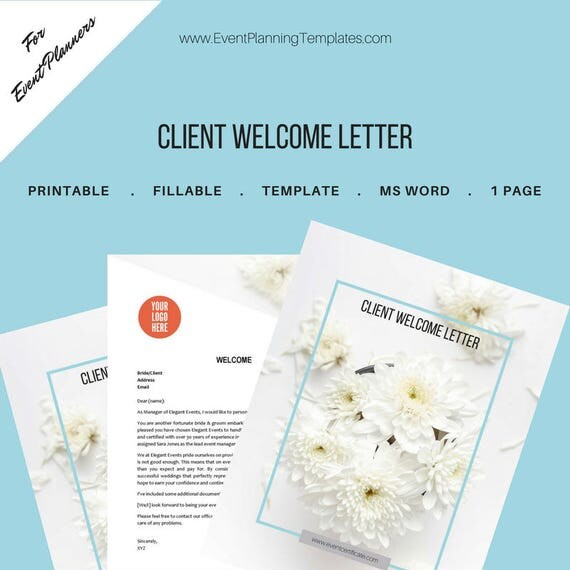 Client welcome letter for event and wedding planners client welcome letter for event and wedding planners printable template ms word pronofoot35fo Gallery